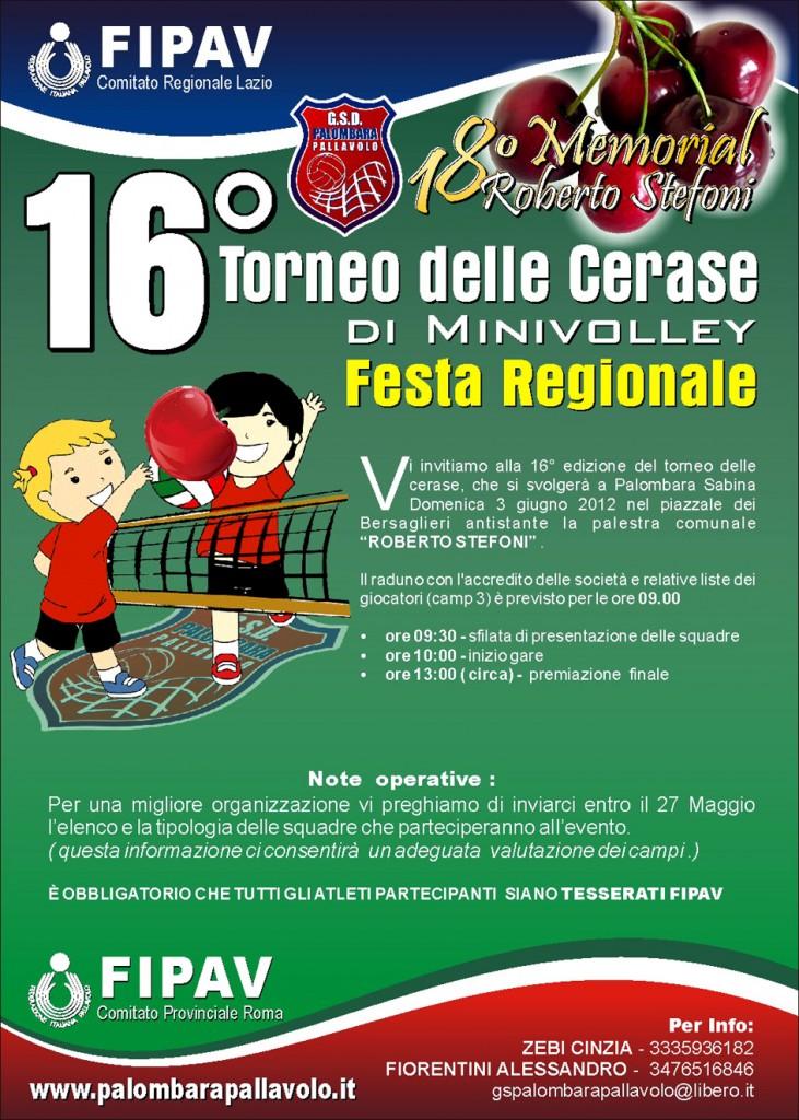 Festa Regionale Minivolley - Torneo delle Cerase