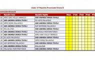 Calendario Under 17 Maschile Provinciale Girone B