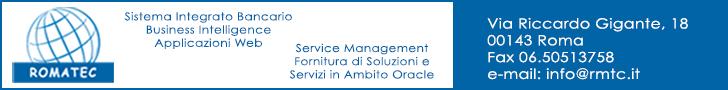 Romatec - Società di Consulenza e Servizi Informatici operante nel campo del Pubblico e Privato con ventennale esperienza nella fornitura di Soluzioni e Servizi in Ambito Oracle