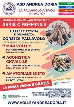 Manifesto Iscrizioni Pallavolo Andrea Doria Tivoli