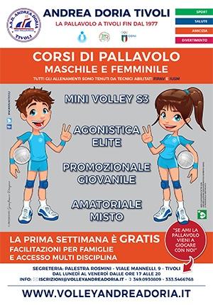 Iscrizioni Pallavolo - Minivolley - Andrea Doria Tivoli