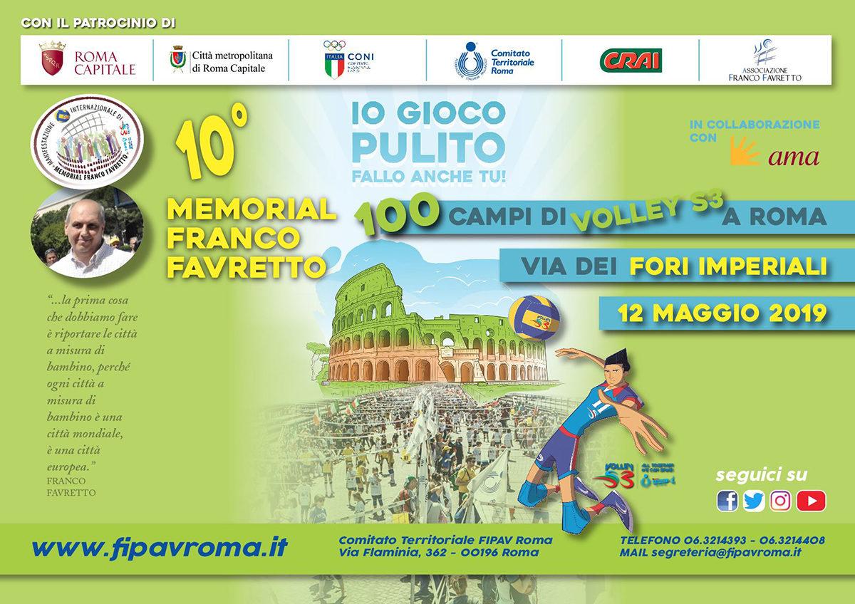 [Minivolley] Memorial Franco Favretto ai Fori Imperiali @ Roma   Roma   Lazio   Italia